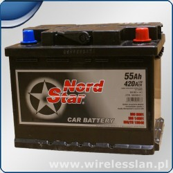 Akumulator Nord Star 55 Ah 420 A