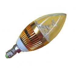 POWER LED BULB 3X1W LED E14 GOLD