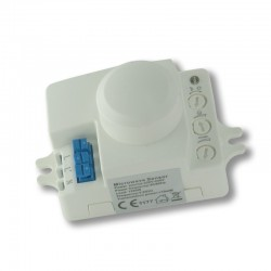 Microwave motion sensor with dusk sensor