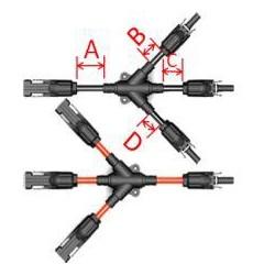 Konektor MC4 do podłączeń 3-1 równoległych PARA