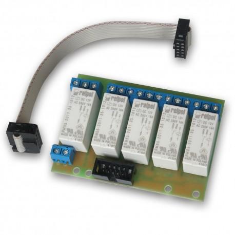 Płytka przekaźników x 5 do kontrolera GSM v3/LanKontroler 2 B12
