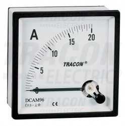 Analogue DC ampermeter, panel mount 48×48mm, 20A DC