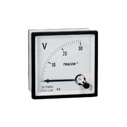 Woltomierz analogowy na prąd stały 48×48mm, 120V DC
