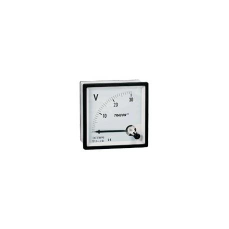 Analogue DC voltmeter, panel mount 48×48mm, 600V DC