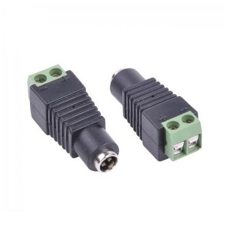 DC Power Jack Connector Plug 2.1 / 5.5 mm female
