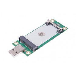 Mini PCI-E Wireless WWAN to USB Adapter Card with SIM Card Slot Module