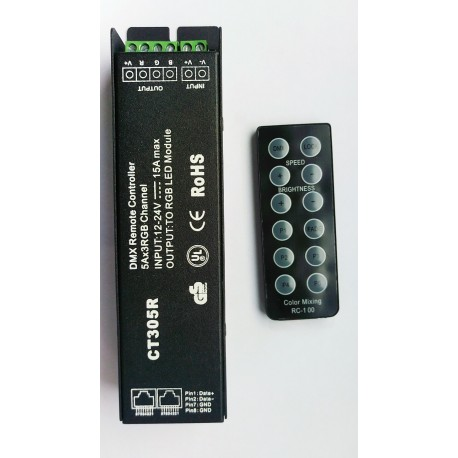 RGB sterowanik DMX512