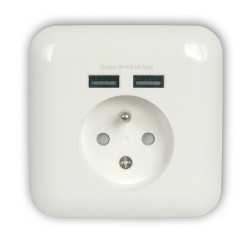 Electric socket with usb