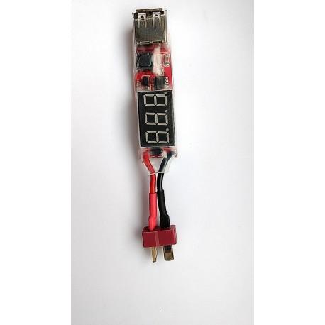 2S-6S z funkcją Power Bank 5V 2AMiernik napięcia ogniw Li-Poly
