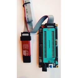 USB ISP v2 programmer + IDC tape + DIL