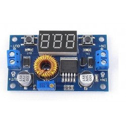 5A DC-DC Step Down Adjustable Power Supply Buck Module LED w/ Voltmeter XL4015E
