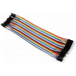 TAŚMA 40 pin ŻĘŃSKI-MĘSKI F/M 30CM