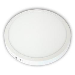Plafon LED 24W / 230V, okrągły, natynkowy zimny