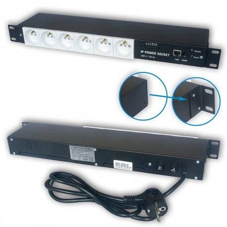 Zarządzalna listwa zasilająca IP Power Socket 6G10A V2 WHITE