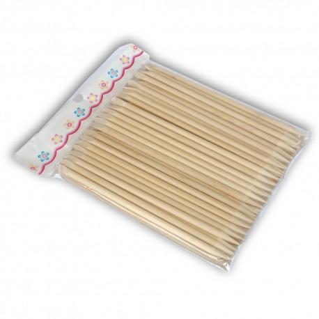 Orange Wood sticks two sides 100pcs