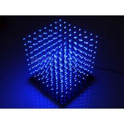 SZEŚCIAN 3D LED NIEBIESKI