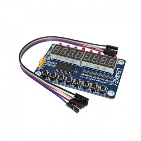 Moduł LED TM1638 do Arduino - 8 bitowy