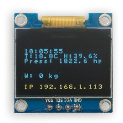 "Eco OLED 0.96"" I2C SERIAL Yellow Blue Display Module"
