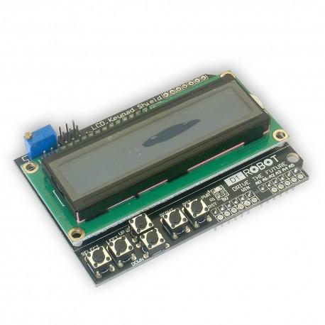 Nakladka Shield LCD 2x16 niebieski z klawiaturą