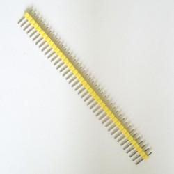5 X ZŁĄCZE WTYK GOLDPIN 1x40 raster 2.54 mm ŻÓŁTY