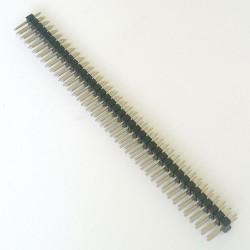 5 X ZŁĄCZE WTYK GOLDPIN 2x40 raster 2.54 mm czarny