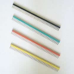 10 x ZŁĄCZE WTYK GOLDPIN 1x40 raster 2.54 mm różne kolory
