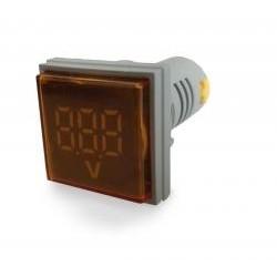 Woltomierz LED 30x30 60-500VAC Żółty