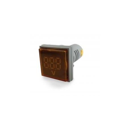 Woltomierz Amperomierz LED 30 x 30 mm 20-500V/100A żółty