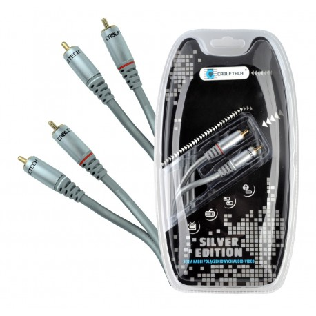 Kabel 2RCA-2RCA 1.8m audio Cabletech Silver Edition
