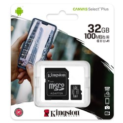 Karta 16GB microSD Kingston Canvas Select Plus 100R A1 C10 z adapterem SD