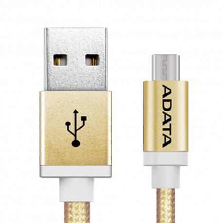 Kabel ADATA USB - Micro USB 1m kolor złoty