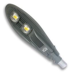 Lampa uliczna z czujnikiem zmierzchu LED COB AC 100W/230V IP65 ODLEW SZARA