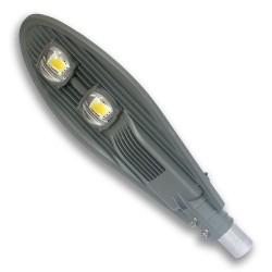 Lampa Uliczna LED COB AC 100W/230V IP65 ODLEW SZARA