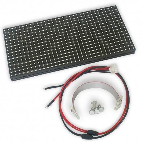 LED dot matrix 32x16 RGB 25x12cm module P8 HUB12 THT