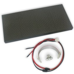 LED dot matrix 32x16 RGB 25x12cm module P8 HUB12 THT