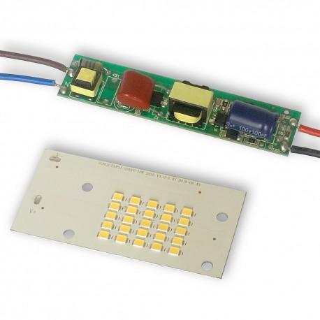 Zestaw dioda 10W LED DC 230V NEUTRALNA z driverem