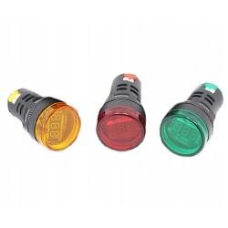 WOLTOMIERZ LED 60-500VAC 28mm czerwony