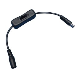 Kabel 2.1/5.5 z wyłącznikiem 30cm