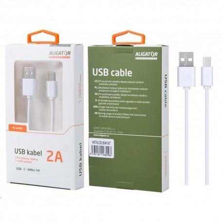 Kabel USB-A - USB-C, 1m 2A ALIGATOR