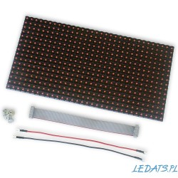 LED DOT MATRIX PANEL 32x16 P10 HUB12 RED THT bez ramek