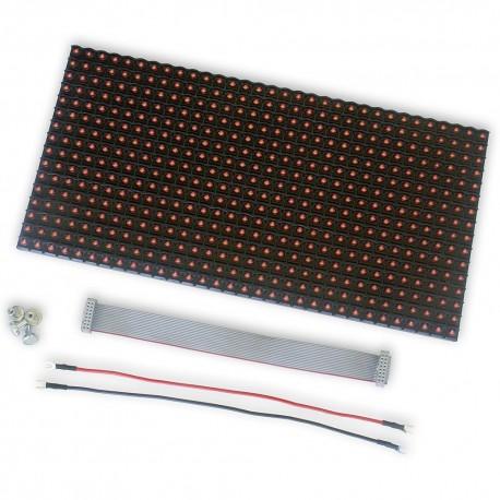 LED DOT MATRIX PANEL 32x16 P10 HUB12 RED THT bez ramek