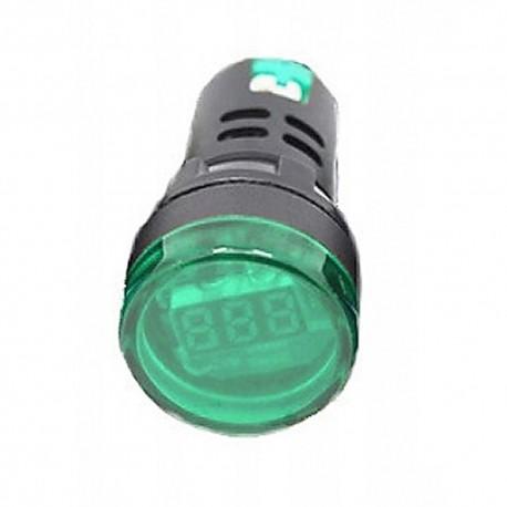 WOLTOMIERZ LED 60-500VAC 28mm zielony