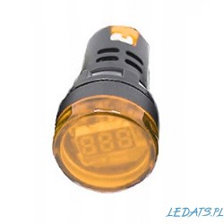 VOLTMETER LED 60-500VAC 28mm YELLOW