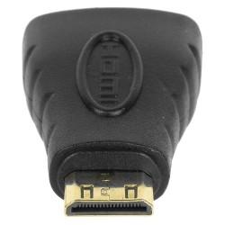 Adapter: HDMI gniazdo - wtyk miniHDMI pozłacany