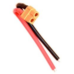Gniazdo XT60 żeńskie F z kablami 10cm 14AWG