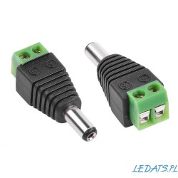 DC Power Jack Connector Plug 2.1/5.5 Male Gniado CD