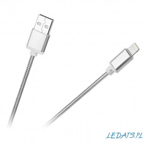Kabel USB - Lightning M-Life do Apple iPhone nylon biały
