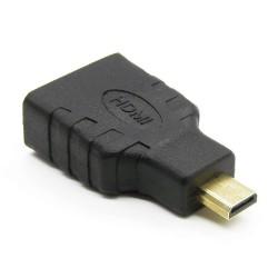 Adapter: HDMI gniazdo - wtyk microHDMI pozłacany