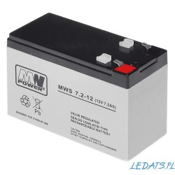 Akumulator MW Power MWS 7,2-12 (7,2Ah 12V)