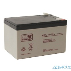 Battery MWL power 12V 12Ah